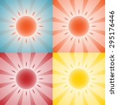set of 4 backgrounds with sun... | Shutterstock .eps vector #295176446