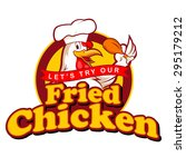 fried chicken sign | Shutterstock .eps vector #295179212
