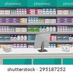 modern interior pharmacy and...   Shutterstock .eps vector #295187252