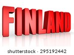 3d finland text on white... | Shutterstock . vector #295192442