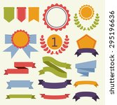 vector ribbons and labels | Shutterstock .eps vector #295196636