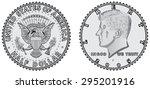 Metal Coins   Half Dollar. Set...