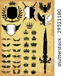 medieval   royal elements... | Shutterstock .eps vector #29521180
