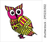 Retro Vivid Owl Illustration