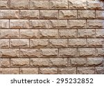 Wall Made From Sandstone Brick...