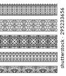 vintage border set for design | Shutterstock .eps vector #295233656