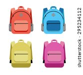 schoolbag flat illustration | Shutterstock .eps vector #295234112