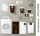 coffee shop corporate identity... | Shutterstock .eps vector #295234898