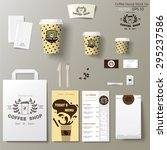 coffee shop corporate identity... | Shutterstock .eps vector #295237586