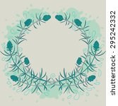vector vintage hand drawn pine... | Shutterstock .eps vector #295242332
