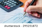 check  paying  finance. | Shutterstock . vector #295251872