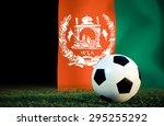 afghanistan symbol soccer ball... | Shutterstock . vector #295255292