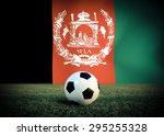afghanistan symbol soccer ball... | Shutterstock . vector #295255328