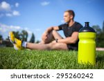 Healthy Male Athlete Is Restin...