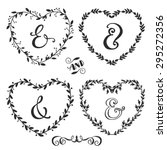 hand drawn rustic vintage heart ... | Shutterstock .eps vector #295272356