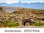 tunnel with mountains at big... | Shutterstock . vector #295275536