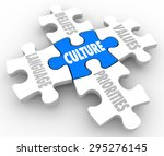 culture word on puzzle piece... | Shutterstock . vector #295276145