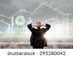 rear view of businessman... | Shutterstock . vector #295280042