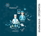 medicine medical doctors... | Shutterstock .eps vector #295284536