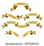 gold banners isolated on a... | Shutterstock .eps vector #29529652