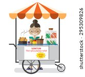 street food  somtum  papaya... | Shutterstock .eps vector #295309826