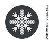 image of snowflake in black...