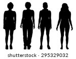 vector silhouettes of women on... | Shutterstock .eps vector #295329032