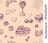 sweets pattern. seamless... | Shutterstock .eps vector #295330295