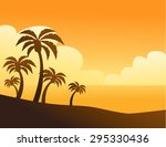 summer color background with... | Shutterstock .eps vector #295330436