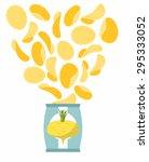 potato chips taste of turnips.... | Shutterstock .eps vector #295333052