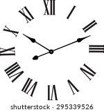 vector vintage clocks | Shutterstock .eps vector #295339526