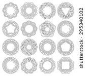 set of celtic knotting rings....   Shutterstock .eps vector #295340102