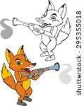 fox cub  cartoon | Shutterstock .eps vector #295355018
