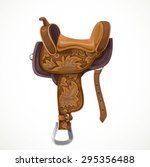 Brown Saddle With Ornaments And ...
