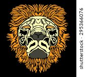 lion head  vector illustration  | Shutterstock .eps vector #295366076