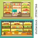 grocery store  supermarket... | Shutterstock .eps vector #295367366