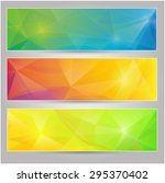 a set of vector banners with... | Shutterstock .eps vector #295370402