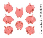 isometric piggy bank. the... | Shutterstock . vector #295370822