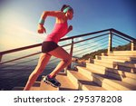 healthy lifestyle sports woman... | Shutterstock . vector #295378208