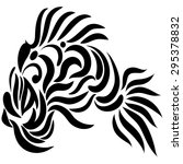 abstract fish exotic black and...   Shutterstock . vector #295378832