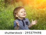 Little Cute Happy Smiling Baby...