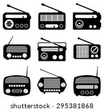 vector set of radio icons | Shutterstock .eps vector #295381868