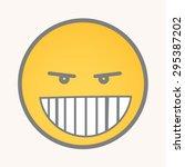 Clever   Cartoon Smiley Vector...