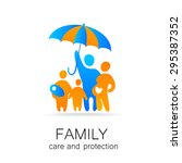traditional family under... | Shutterstock .eps vector #295387352