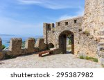 nafpaktos castle gate  greece | Shutterstock . vector #295387982
