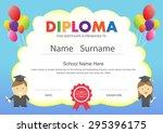 preschool kids elementary... | Shutterstock .eps vector #295396175