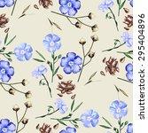 watercolor linen. vector... | Shutterstock .eps vector #295404896