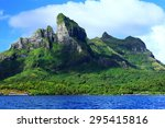 mount otemanu from the water in ... | Shutterstock . vector #295415816