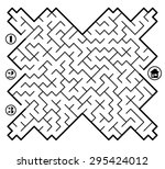 find way across labyrinth to... | Shutterstock .eps vector #295424012