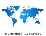 map of world | Shutterstock .eps vector #295424852